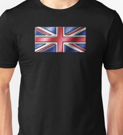 British Union Jack Flag 2 - UK - Metallic Unisex T-Shirt