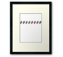Yoshi pack Framed Print