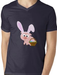 Easter Pig Mens V-Neck T-Shirt