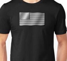 American Flag 2 - USA - Metallic - Steel Unisex T-Shirt