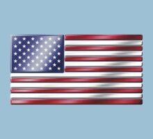 American Flag 2 - USA - Metallic Kids Tee