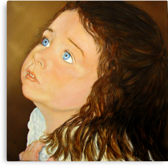 Portrait of Anna  - Oil Painting by Avril Brand