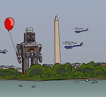 Robot red baloon by themoch