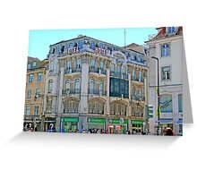 Lisbon. Rua Augusta Greeting Card