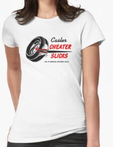 Cheater Slicks Womens Fitted T-Shirt