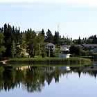 lake of the prairies reflections by Cheryl Dunning