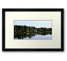 lake of the prairies reflections Framed Print