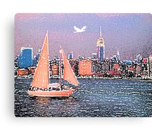 Boat in NYC Canvas Print