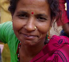 Woman after Puja - Hetauda, Nepal by AlliD
