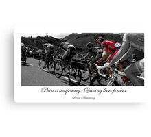 PAIN IS TEMPORARY Canvas Print