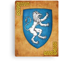 Lion Rampant To Sinister Canvas Print
