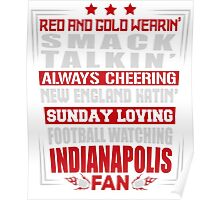 Indianapolis Fan T-shirt Poster