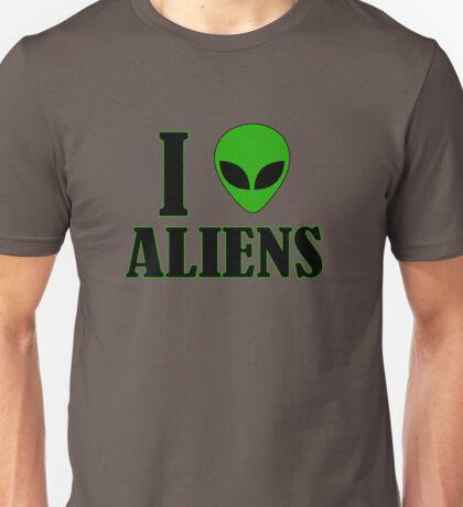 I Love Aliens Unisex T-Shirt