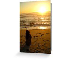 Nude Sunset Greeting Card