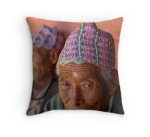 Peaceful Eyes, Kathmandu, Nepal Throw Pillow