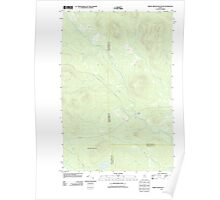 Maine USGS Historical Map Middle Brook Mountain 20110909 TM Poster