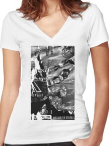 Poster Archaeology 19 Women's Fitted V-Neck T-Shirt