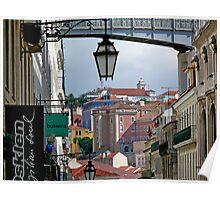 Rua do Carmo view Poster