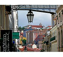 Rua do Carmo view Photographic Print