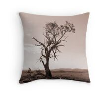 Lonely old Paddock Tree Throw Pillow