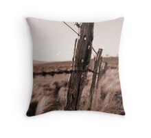 Barbed Fence Throw Pillow