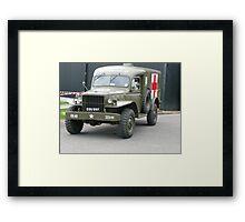 US Army  Ambulance (photo) Framed Print