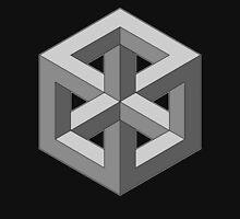 Penrose Cube - Neutral Grey Unisex T-Shirt
