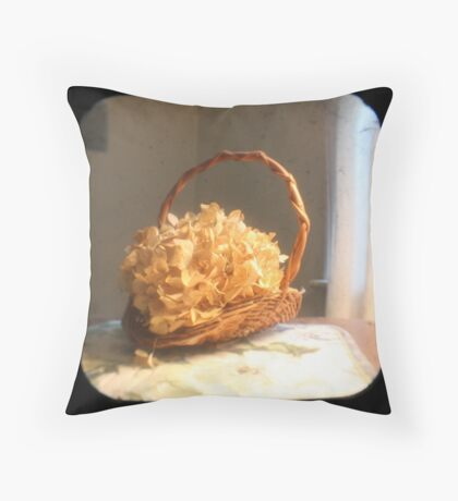Hydrangea Basket TTV Throw Pillow