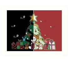 Cute & Creepy Christmas Art Print