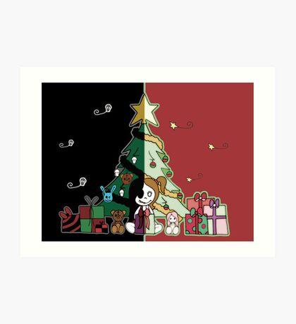 Cute & Creepy Christmas Art Print