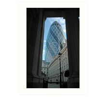 London Gherkin Art Print
