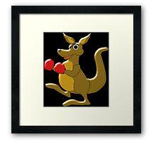 Boxing Kangaroo Design Framed Print