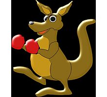 Boxing Kangaroo Design Photographic Print