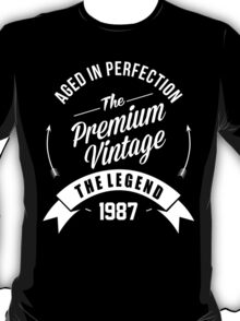Vintage 1987  Aged To Perfection T-Shirt