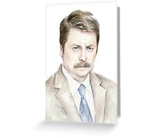 The Swanson Watercolor Portrait Greeting Card