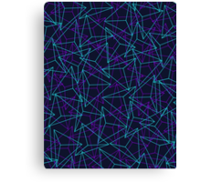 Abstract Geometric 3D Triangle Pattern in  turquoise/ purple  Canvas Print