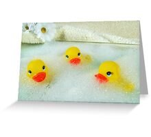 Bath Buddies Greeting Card