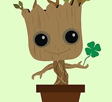 Groot with Clover by Ztw1217