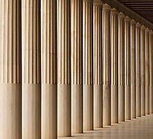 Stoa of Attalos marble colonnade and ceiling by Nick Dale