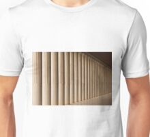 Stoa of Attalos marble colonnade and ceiling Unisex T-Shirt