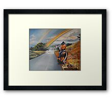Where the Sun Sets in the East Framed Print