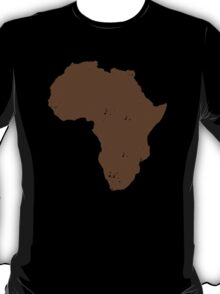 Map shape continent of AFRICA (distressed) T-Shirt