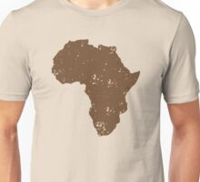Map shape continent of AFRICA (distressed) Unisex T-Shirt