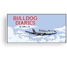 Bulldog Airplane Canvas Print