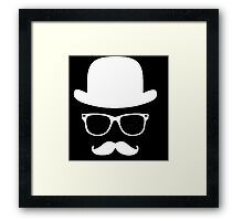 Moustache with hat and glasses couple Framed Print