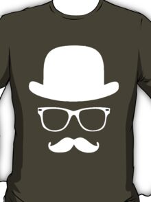 Moustache with hat and glasses couple T-Shirt