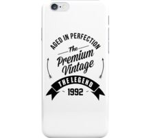 Vintage 1992 Aged To Perfection iPhone Case/Skin