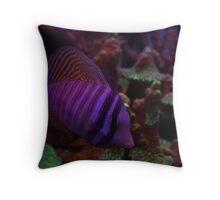 neon fins Throw Pillow
