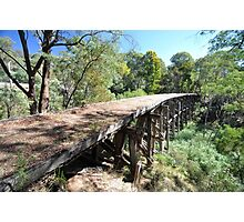 Rail Bridge, Darbyshire, Australia 2013  Photographic Print