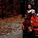 hippie chic meets red car by Danielle  Kay